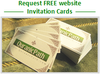 Request free promotional cards logo