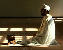 A man praying